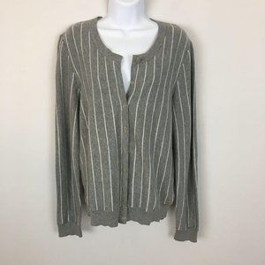 Tommy Hilfiger Womens Sweater Cardigan Large Gray